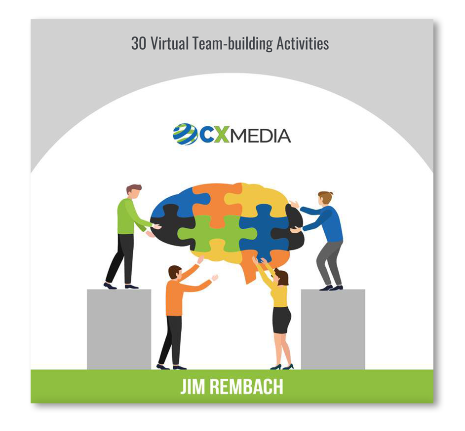The contact center leader's guide to virtual team-building activities' which has 30 virtual team-building activities