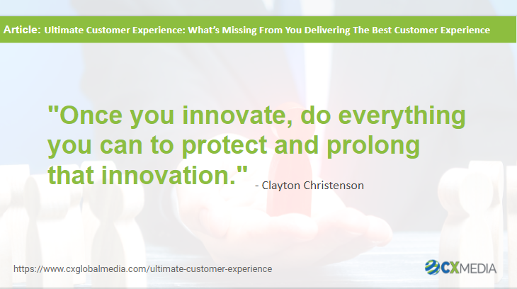 Quote on being innovative with CX