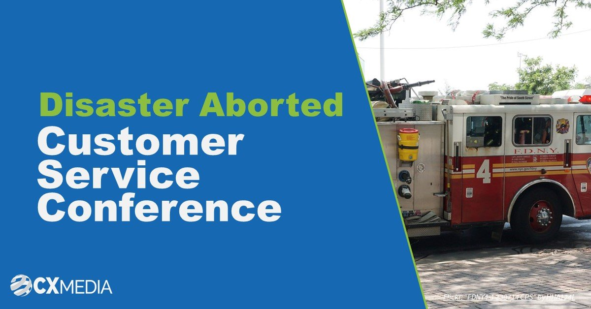Disaster aborted at Customer Service Conference